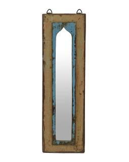 Zrkadlo v ráme z teakového dreva, 17x3x54cm