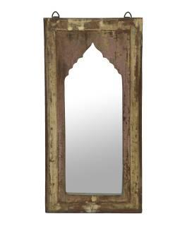 Zrkadlo v ráme z teakového dreva, 28x3x56cm