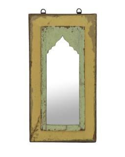 Zrkadlo v ráme z teakového dreva, 27x3x51cm