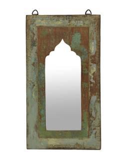 Zrkadlo v ráme z teakového dreva, 25x3x45cm