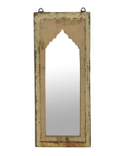 Zrkadlo v ráme z teakového dreva, 25x3x60cm