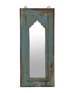 Zrkadlo v ráme z teakového dreva, 25x3x59cm
