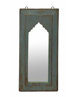 Zrkadlo v ráme z teakového dreva, 27x3x57cm