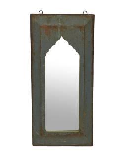 Zrkadlo v ráme z teakového dreva, 28x3x57cm