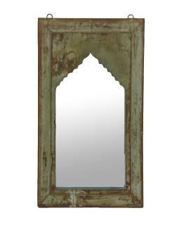Zrkadlo v ráme z teakového dreva, 36x4x64cm