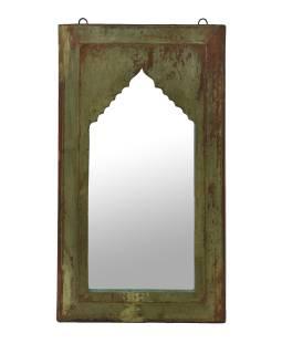 Zrkadlo v ráme z teakového dreva, 35x4x64cm