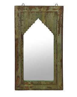 Zrkadlo v ráme z teakového dreva, 36x4x63cm