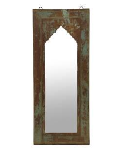 Zrkadlo v ráme z teakového dreva, 30x4x74cm