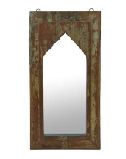 Zrkadlo v ráme z teakového dreva, 35x4x68cm