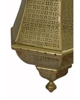 Kovová lampa v orientálnom štýle, zlatá, vnútri zlatá, 40x40x90cm