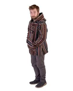 Anorak - Mikina s kapucňou, gombíky bez podšívky, vrecko, čierna - farebná