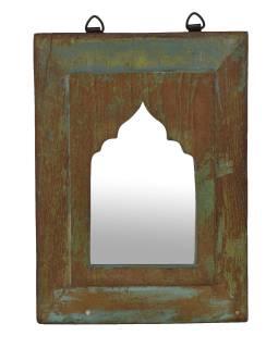 Zrkadlo v ráme z teakového dreva, 24x3x33cm