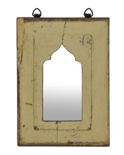 Zrkadlo v ráme z teakového dreva, 21x3x30cm