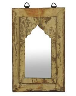 Zrkadlo v ráme z teakového dreva, 21x3x34cm