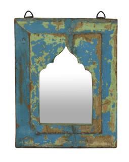 Zrkadlo v ráme z teakového dreva, 24x3x30cm