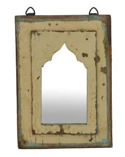 Zrkadlo v ráme z teakového dreva, 22x3x30cm