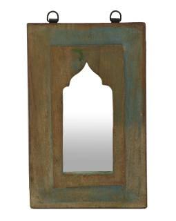 Zrkadlo v ráme z teakového dreva, 20x3x32cm