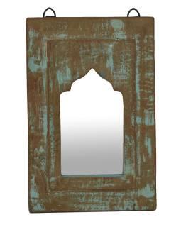 Zrkadlo v ráme z teakového dreva, 21x3x32cm