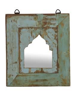 Zrkadlo v ráme z teakového dreva, 26x3x30cm
