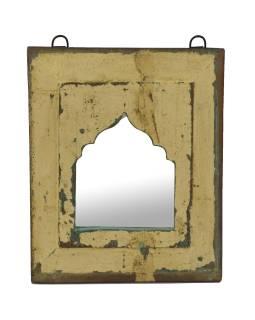 Zrkadlo v ráme z teakového dreva, 24x3x28cm