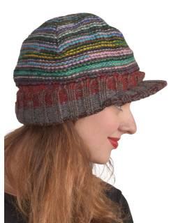 Čiapky, Visor cap, šilt, vlna, podšívka, multifarebné