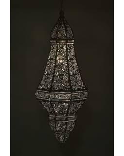 Kovová lampa v orientálnom štýle, biela, 37x37x85cm