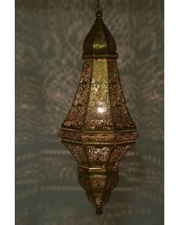 Kovová lampa v orientálnom štýle, zlatá, 37x37x85cm