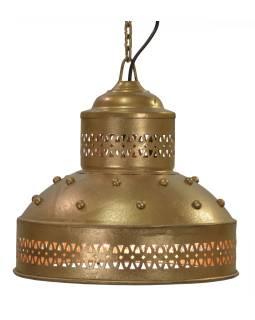 Kovové tienidlo, zlatý dizajn, 28x28x30cm