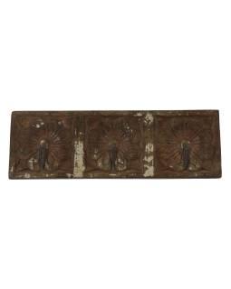 3 vešiačiky na stenu, ručne vyrezávané, 31x2x10cm