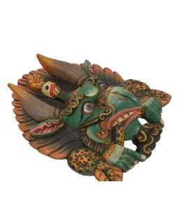 Drevená maska, Cheppu, farbený, 26x13x30cm