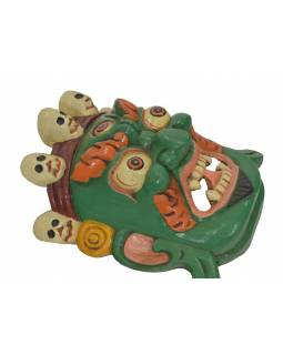"Drevená maska, ""Bhairab"", ručne vyrezávaná, 28x13x30cm"