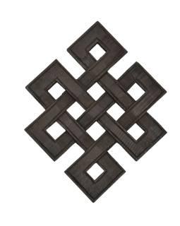 Nekonečný uzol, drevená dekorácia, 24x18cm
