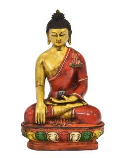 Budha Šákjamúni, keramická socha, ručne maľovaná, 28x18x44cm