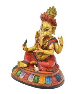 Ganéša, keramická socha, ručne maľovaná, 28x23x31cm