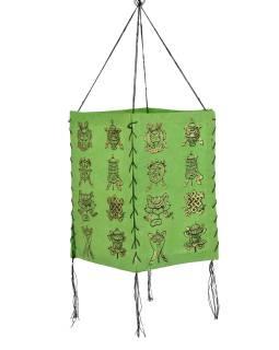 Tienidlo, štvorboké, zelené so zlatou potlačou Astamangal, 18x25cm