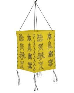 Tienidlo, štvorboké, žlté so zlatou potlačou Astamangal, 18x25cm