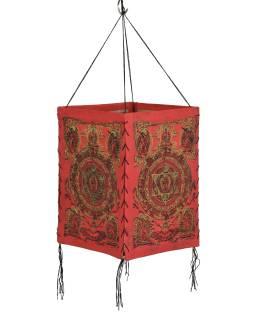 Tienidlo, štvorboké, červené, zlatá tlač, Mandala, 18x25cm