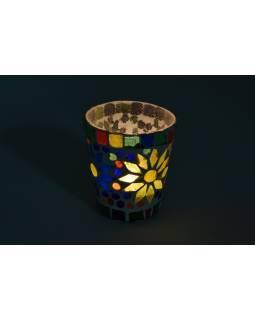 Lampička, skl.mozaika, kónická, priemer 8cm, výška 8,5 cm