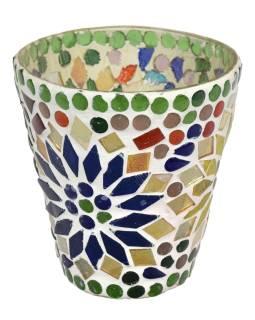 Lampička, skl.mozaika, kónická, priemer 9cm, výška 9,5cm