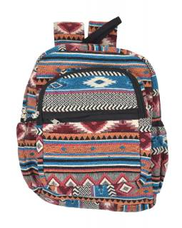 Batoh, farebný, Aztec design, vrecká, zips, nastaviteľné popruhy, 34x36 cm