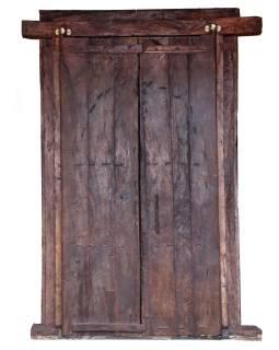 Antik dvere s rámom z Gujarati, teakové drevo, 190x14x270cm