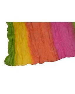 Šatka, batika, mačkaná úprava, multifarebný, 55x170cm
