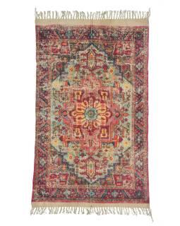 Koberec, ručne tkaný, bavlna, 120x200cm