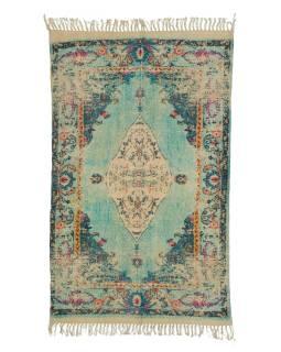 Koberec, ručne tkaný, bavlna, 116x200cm