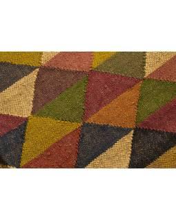 Koberec behúň, ručne tkaný, vlna, juta, 120x196cm