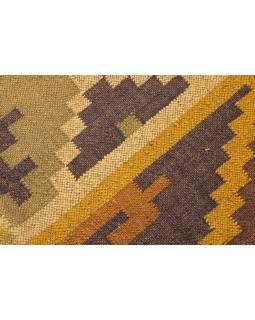 Koberec, ručne tkaný, vlna, juta, 184x290cm