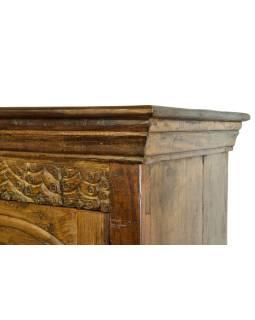 Presklená skriňa z teakového dreva, 108x45x153cm