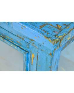 Presklená skrinka z teakového dreva, 79x40x108cm