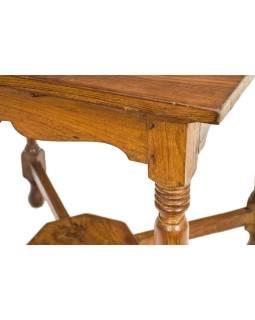 Starý stolík, z teakového dreva, 74x74x71cm