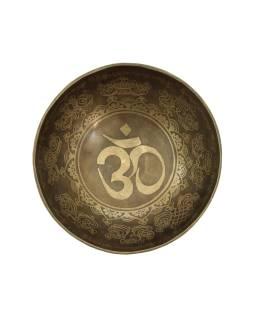 """Tibetská misa, """"GULP"""", gravírovaná s dizajnom, priemer 20cm"""